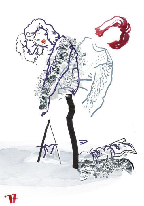 YSL FW 2017  fashion illustration