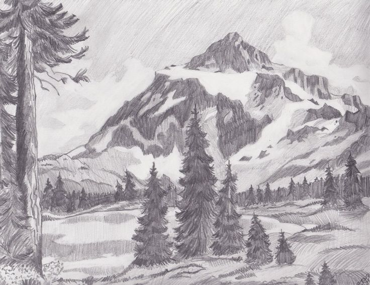Mountain Landscape by Melmo1123deviantartcom on