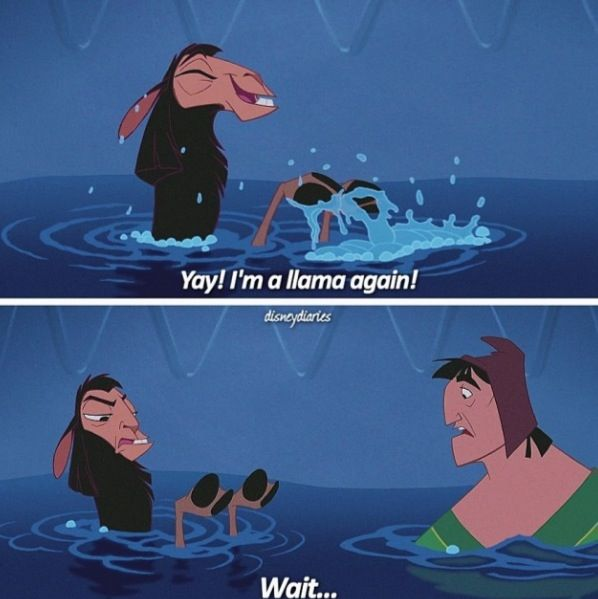 Haha, The Emperor's New Groove.