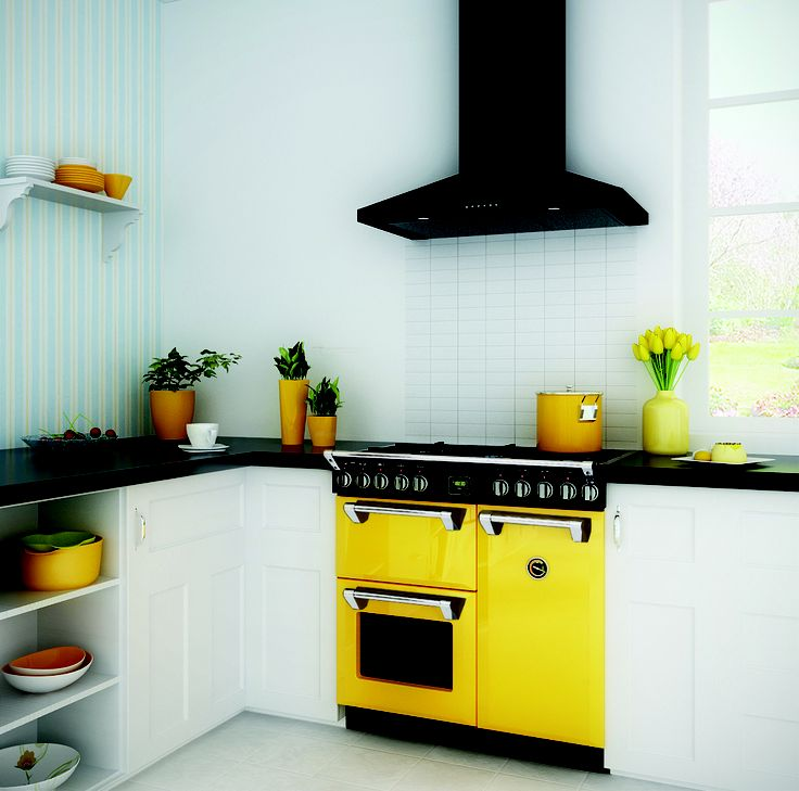 Belling displayed these colourful ovens at the 2013 Auckland Home Show #Belling, #Kitchen, #AucklandHomeShow