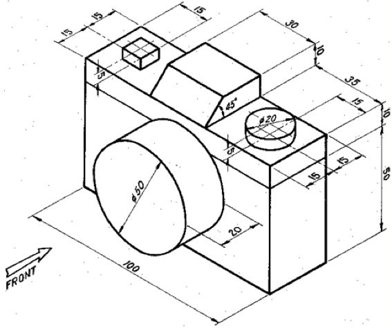 Watch also Figure Qi Isometric Drawing  ponent Draw First Angle Projection Following Views Front Vi Q4633944 likewise Exercises in addition Context  Overview of Architectural Drawings in addition Exercises. on 3 views of orthographic projection