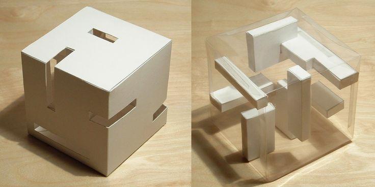 "modelarchitecture: "" Design – Concept model, positive / negative space jenniferlcarvalho """