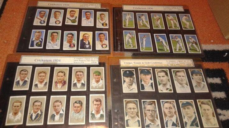 1930 1934 1935 1938 Cricketers Cricket 50 Card Sets All 4 Sets Cricket 1930