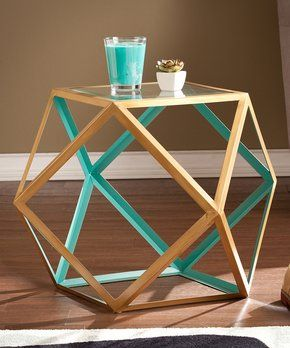Blue & Champagne Jenna Accent Table