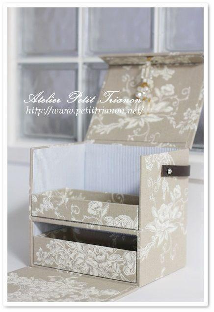 多目的ボックス完成♪ : Petit Trianon *** cartonnage & interior ***