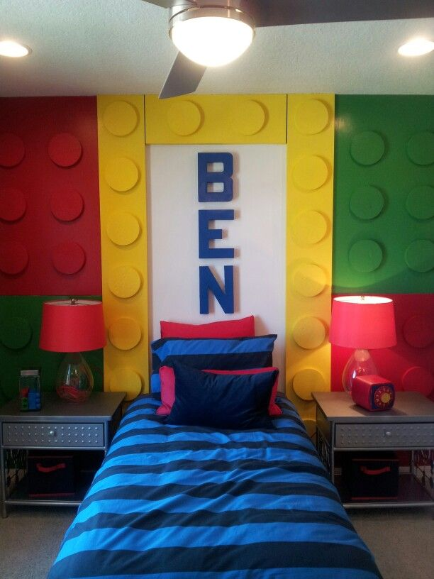113 best images about lego bedroom on pinterest lego wall art lego and lego brick - Cheap boys room ideas ...