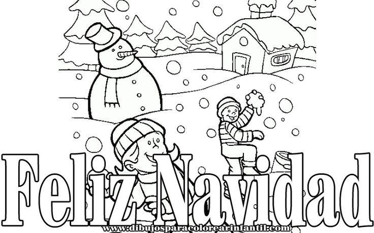 Dibujos de navidad para pintar tarjetas de navidad - Dibujos para pintar navidad ...