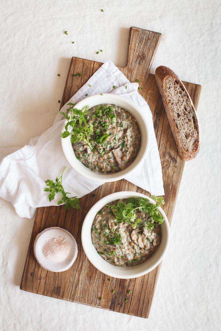 Cozy Creamy Mushroom Lentil Stew