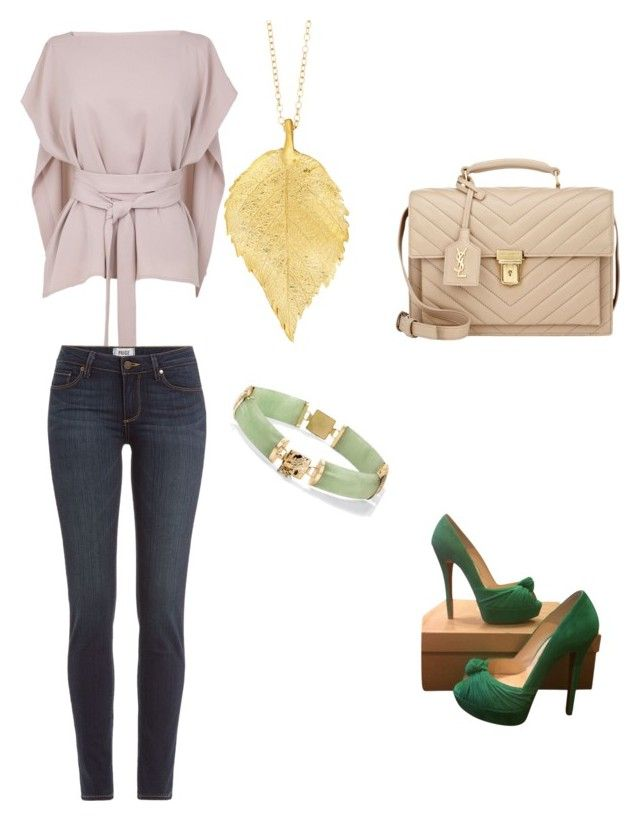 """""""Untitled #8"""" by eli-lie-nihil on Polyvore featuring TIBI, Paige Denim, Christian Louboutin, Chupi, Palm Beach Jewelry and Yves Saint Laurent"""