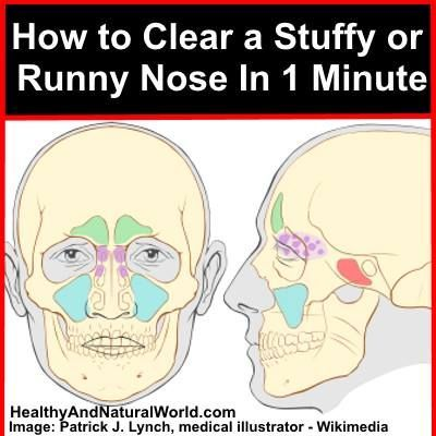 Tips to Effectively Clear a Stuffy or Runny Nose in 1 Minute. Instead of using over the counter nasal sprays - try this all natural technique.