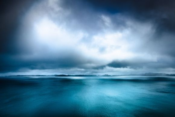 Raasay and Rona - Seascape in Teal Blue and White - Isle of Skye