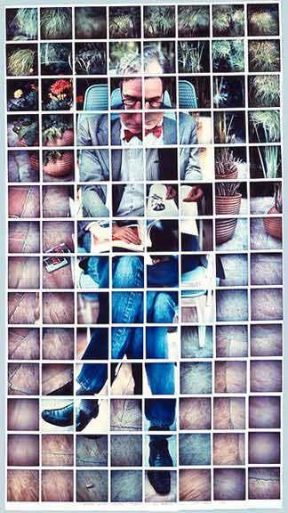Polaroid mosaic · David Hockney