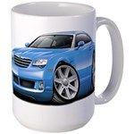 Crossfire Lt Blue Car Large Mug