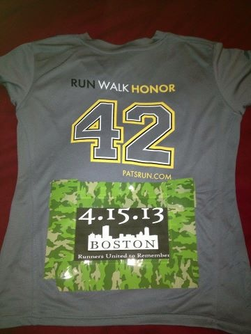 A group of us are sporting these for Pats run tomorrow which funds The Wounded Warrior foundation! Makaha, Hawaii is wishing Boston strength and unity! 3