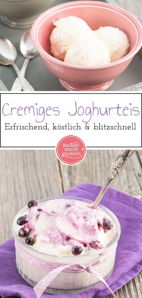 Selbstgemachtes Joghurteis ist erfrischend, lecker und fertig. D …   – Eiscreme Rezepte