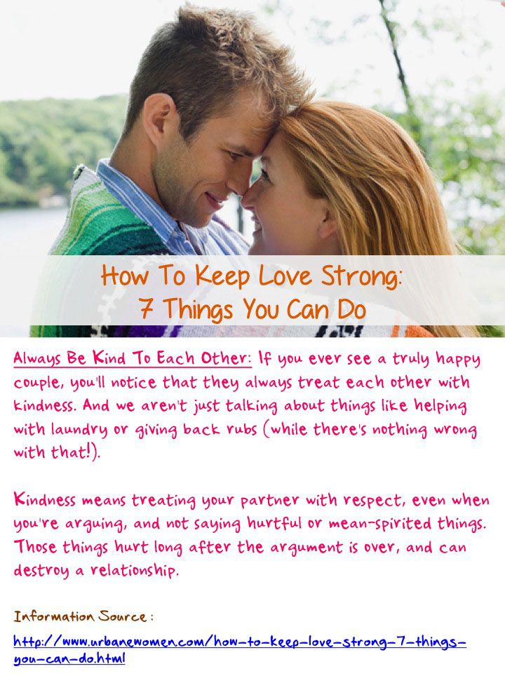An analysis of how to maintain a strong relationship