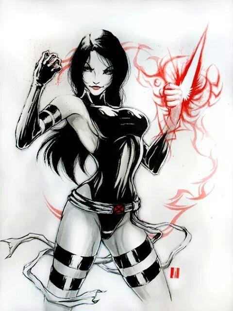 Marvel Psylocke Art 125 best images about ...