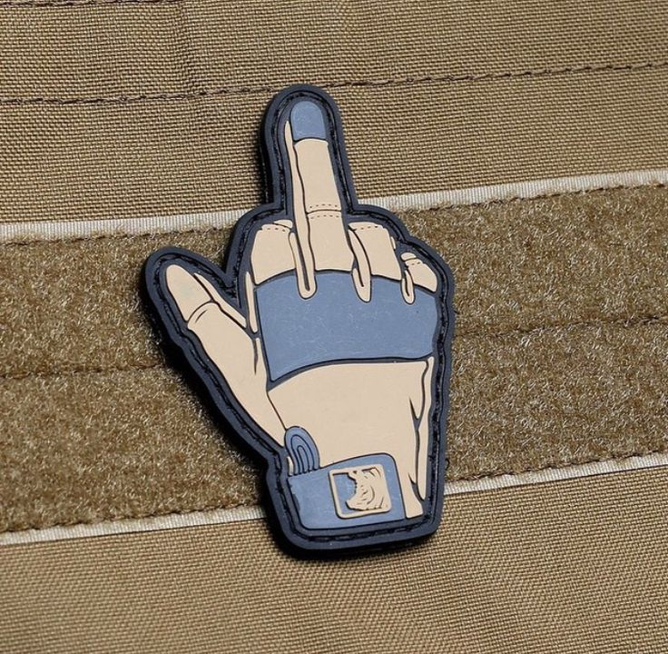 Middle Finger Velcro Patch