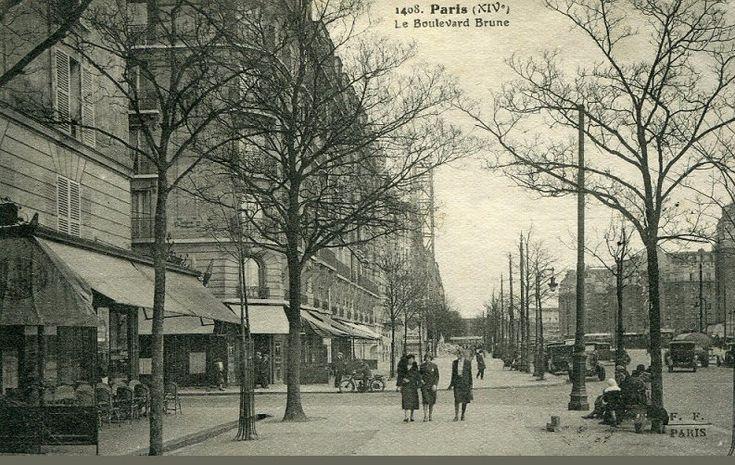 Le boulevard Brune vers 1925  (Paris 14ème)