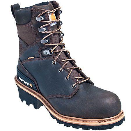 Carhartt Boots Men's Crazy Horse Brown CML8160 Waterproof EH Logger Bo