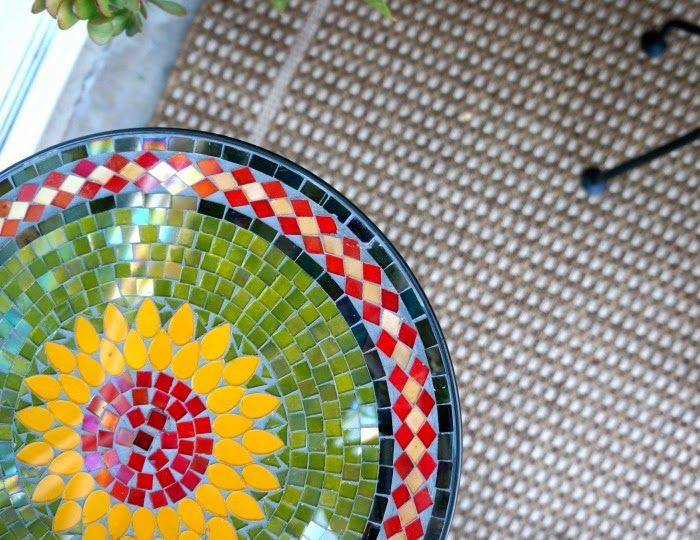 Sunflower Mosaic Accent Table from Pier 1 Imports $49.99 ...