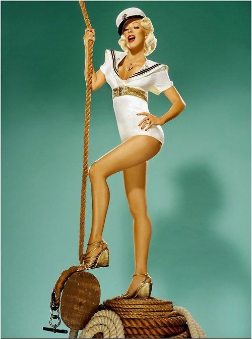 Christina Aguilera --- Candyman...  http://www.youtube.com/watch?v=9UMU30wHuTE