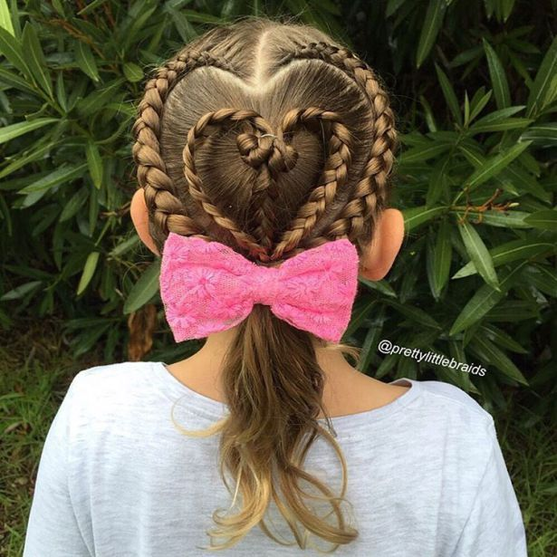 28 best easy girls hairstyle images on pinterest easy girl 47 easy little girl hairstyles heart braids and ponytail melissamakeup girls hairstyle urmus Images
