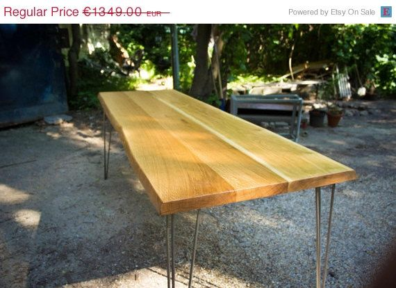 ETSY SPRING SALE Dining Table: Large Thick Old door HardmanDasein