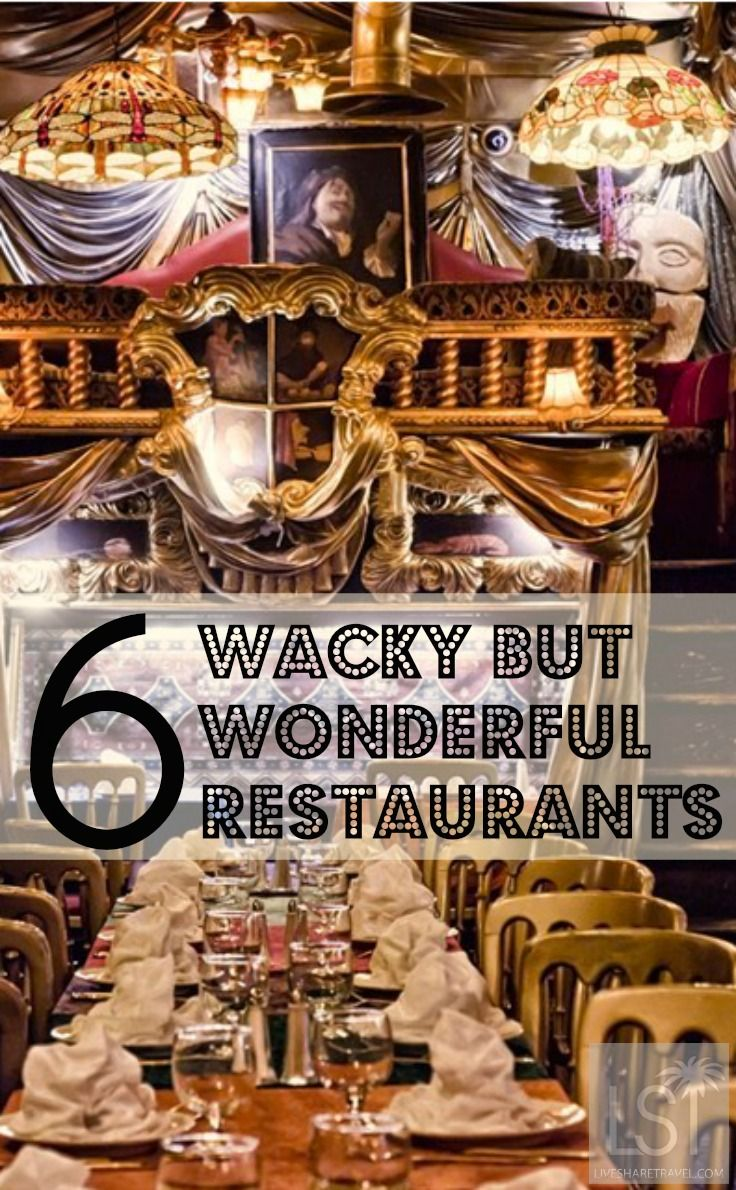 Six wacky but wonderful restaurants in London. www.cruisenow.com.au