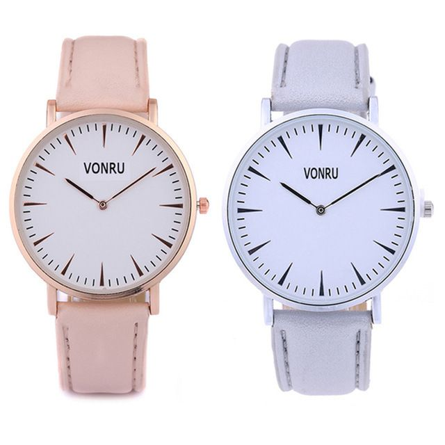 Women Fashion Goldplated Leather Quartz Watches Ladies High Quality Simple Watch Men Sports Luxury Wristwatch Relogio Feminino