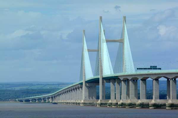 Severn Bridge between Wales & England