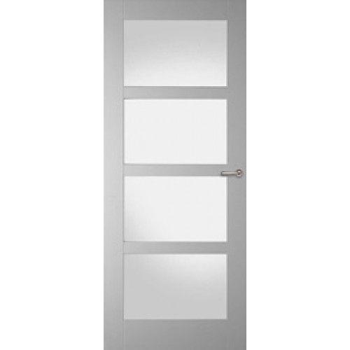 Binnendeur met glas hal < < > > woonkamer