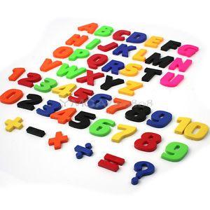 52er/Set Magnetbuchstaben + Magnet Zahlen Alphabet Buchsatben Kühlschrankmagnet | eBay