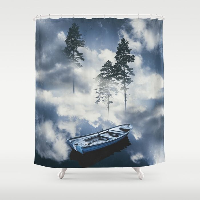 Forest sailing Shower Curtain by HappyMelvin. #art #nature #photography #surreal #showercurtain #homedecor