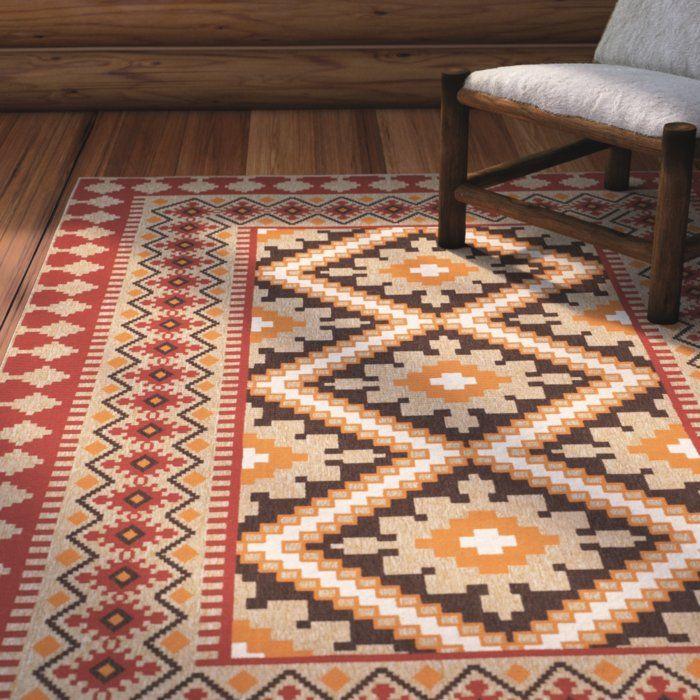 Rangely red beige indoor outdoor area rug in 2019 rugs - Area rug trends 2018 ...