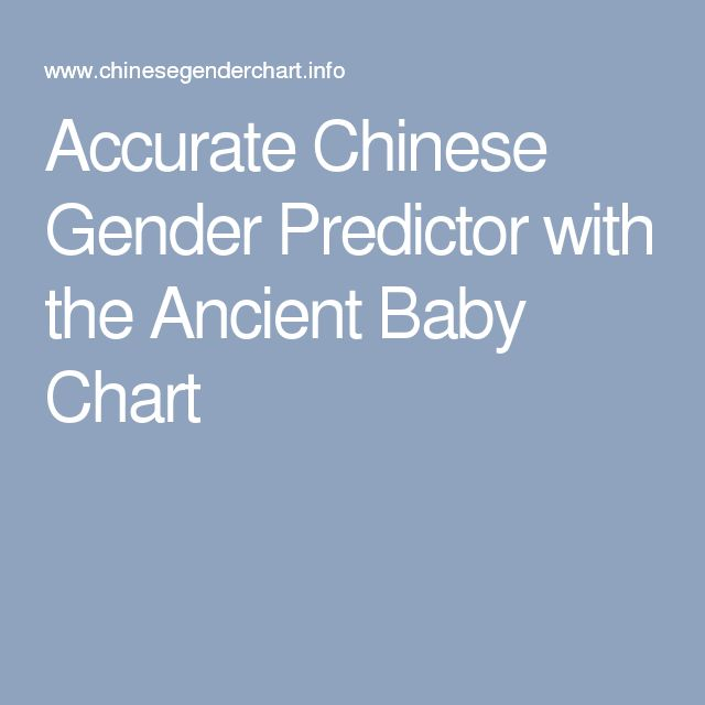Accurate Chinese Gender Predictor with the Ancient Baby Chart