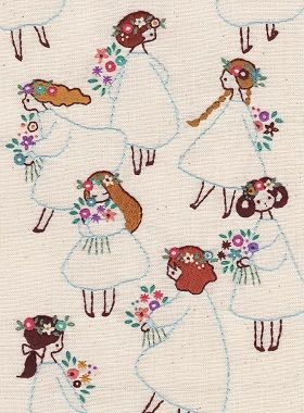 Illustration with embroidery