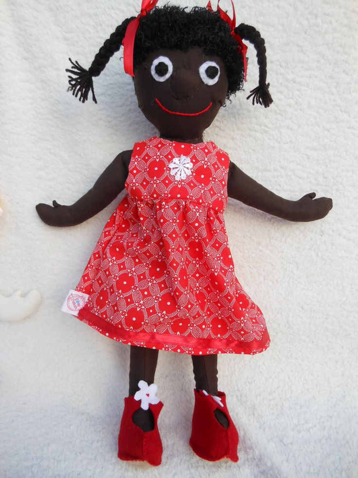 """Mbali means """"flower"""" in Zulu and so that is what we have decided to call this little rag doll."""
