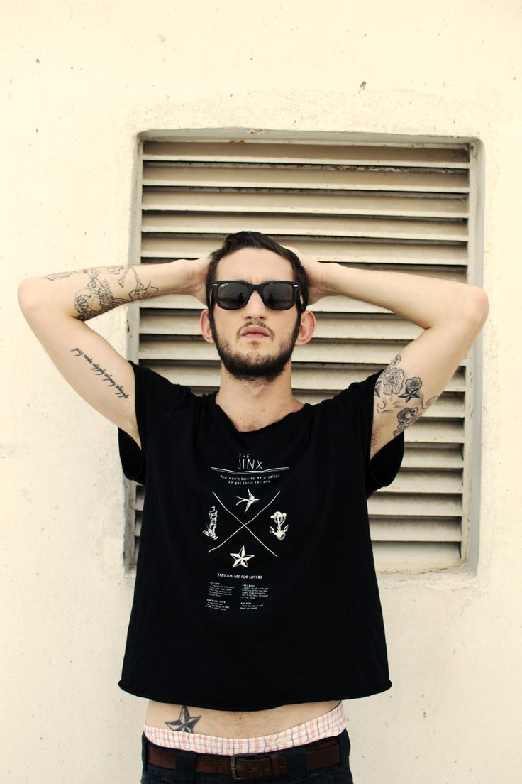 """Tattoos are for lovers"" silkscreen t-shirt."