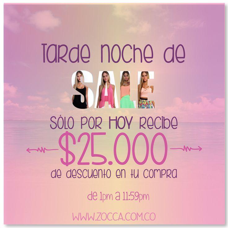 Tarde noche de Sale!!! www.zocca.com.co