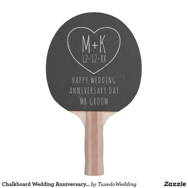 Chalkboard Wedding Anniversary Ping Pong Paddle
