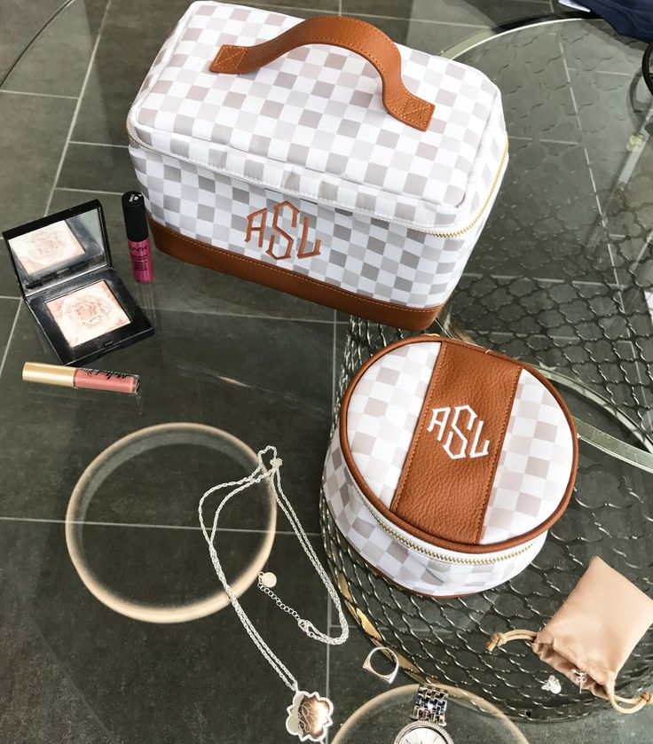 Travel the world with this cute luggage!! Check out our Monogrammed Train & Jewelry Cases!