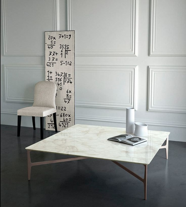 Contemporary marble coffee table - DUPRÈ by Roberto Lazzeroni