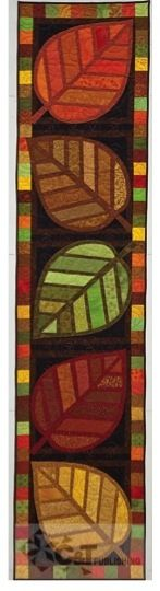 fabric stained glass leaves