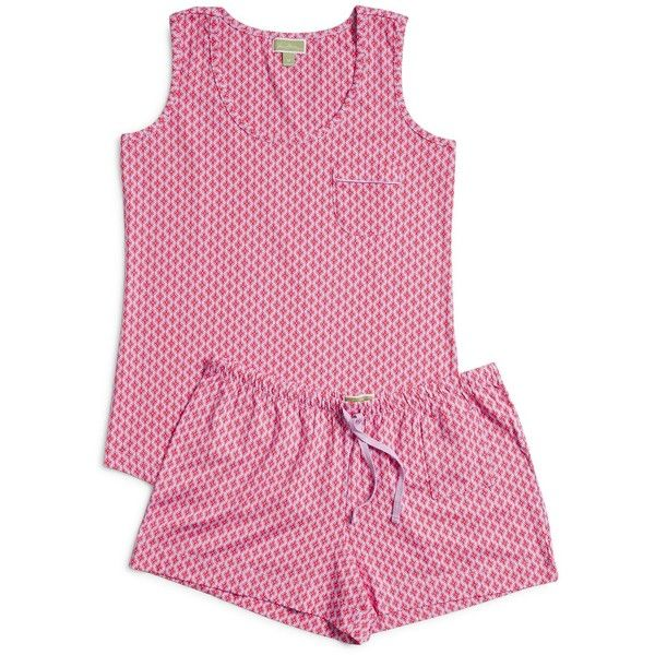 Vera Bradley Summer Pajamas in Petite Paradise ($48) ❤ liked on Polyvore featuring intimates, sleepwear, pajamas, petite paradise, summer pjs, summer sleepwear, jersey knit pajamas, petite pajamas and petite pajama sets