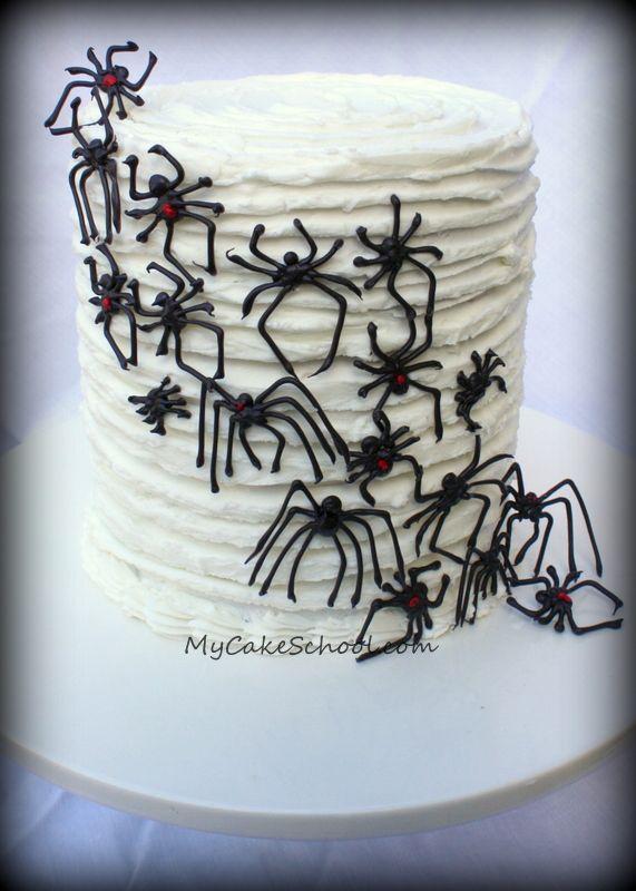 Chocolate Spider Invasion Cake Tutorial ~ fun for Halloween
