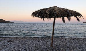 The beach at Tilos.