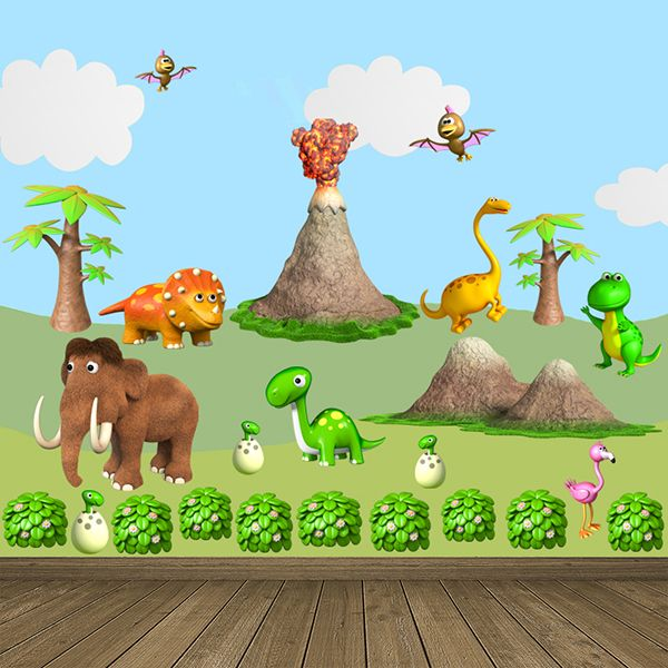 Vinilos Infantiles: Kit animales prehistóricos. Dinosaurios, mamuts, volcanes... #infantil #decoración #vinilo #deco #dinosaurio #animales #TeleAdhesivo