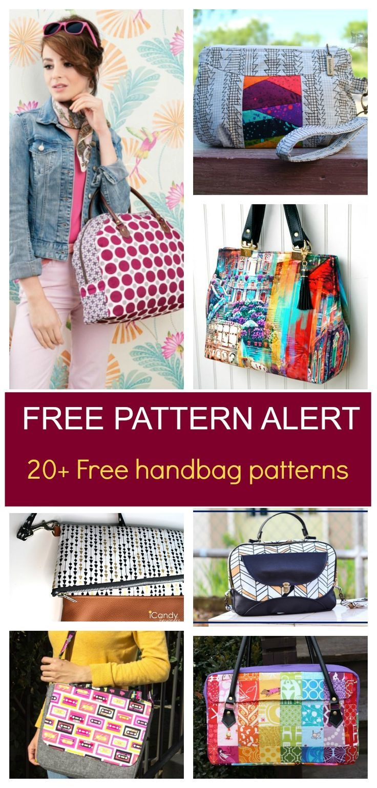 Free Pattern Alert 20 Handbag Sewing Patterns Get Access To And Tutorials Click Here Learn More