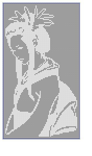 Filet Crochet Pattern-Geisha